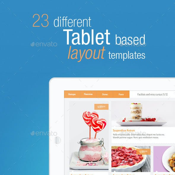 23 Tablet Based Layout Templates