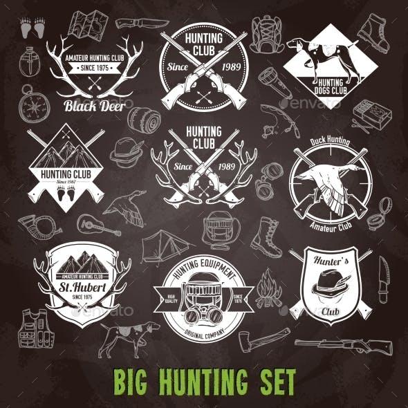 Hunting Chalkboard Set