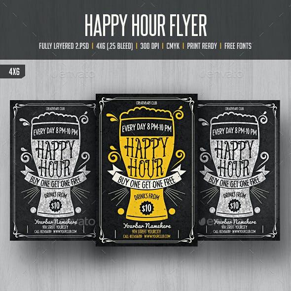 Happy Hour Flyer 3