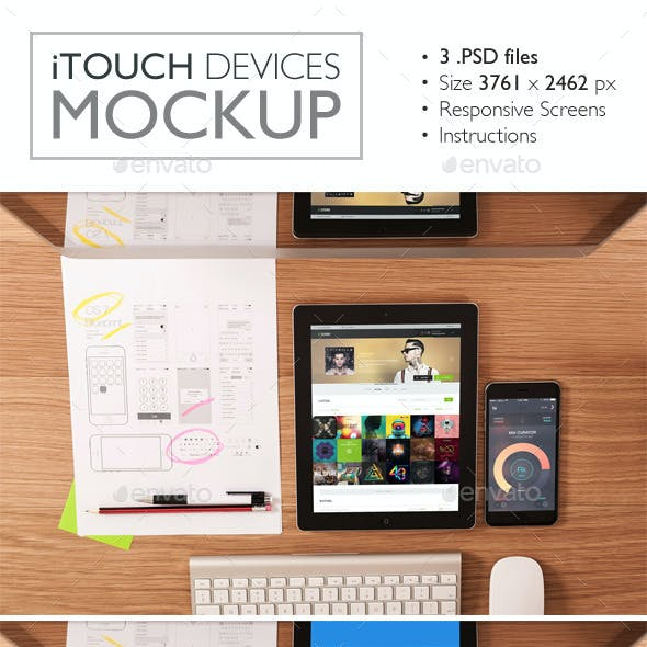 iTouch Devices Mockup