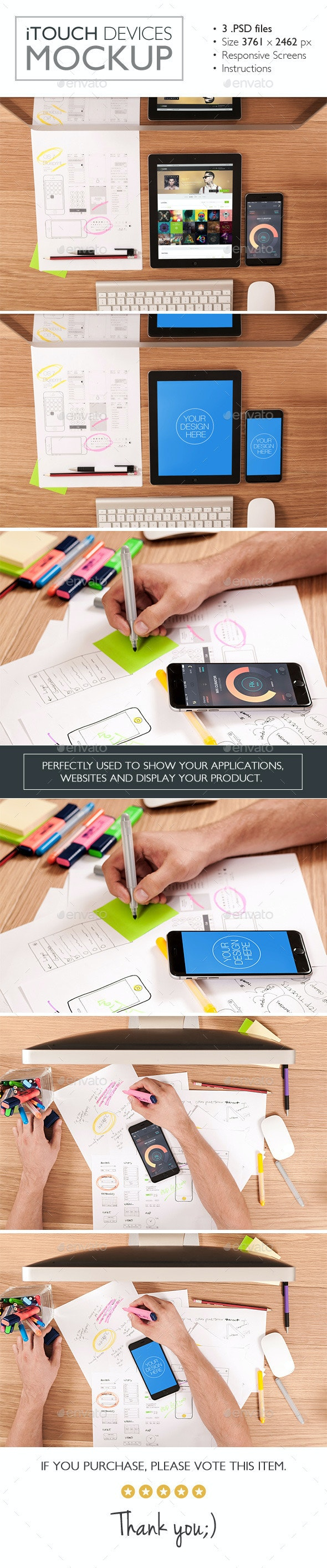 iTouch Devices Mockup - Product Mock-Ups Graphics