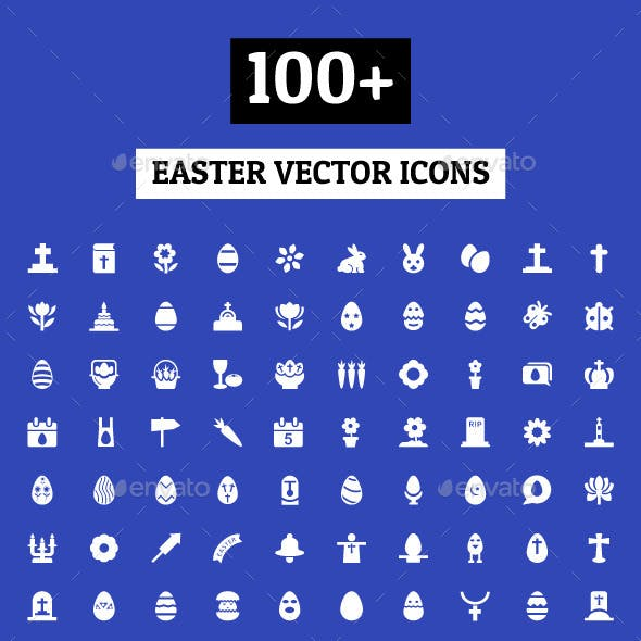 100+ Easter Vector Icons