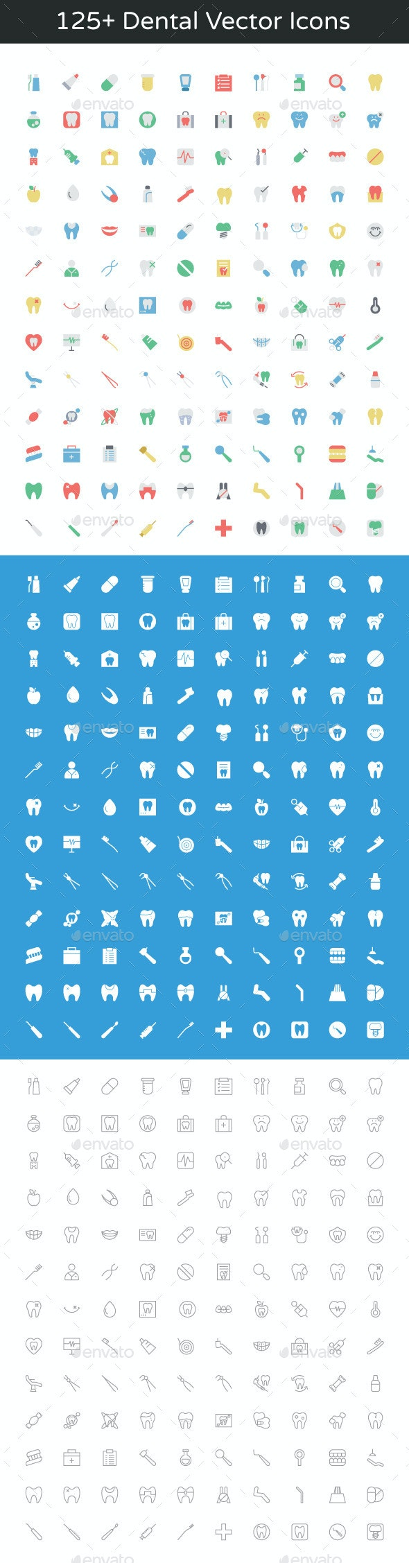 125+ Dental Vector Icons - Icons