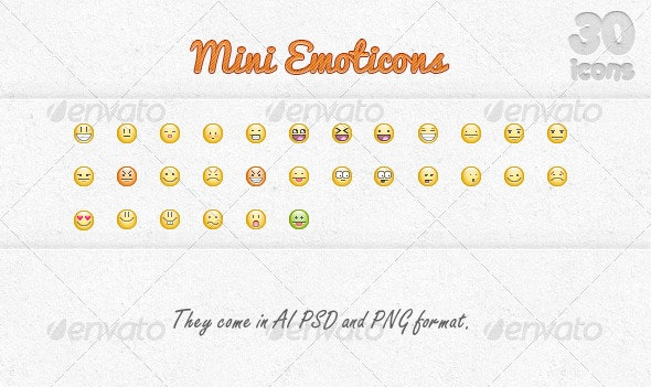Mini Emoticons - People Characters
