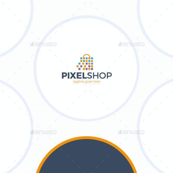 Pixel Shopping Logo