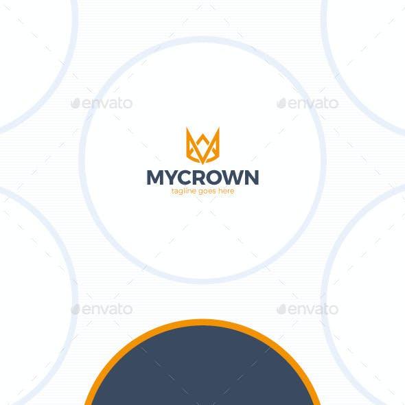 Line Crown Logo - Letter M
