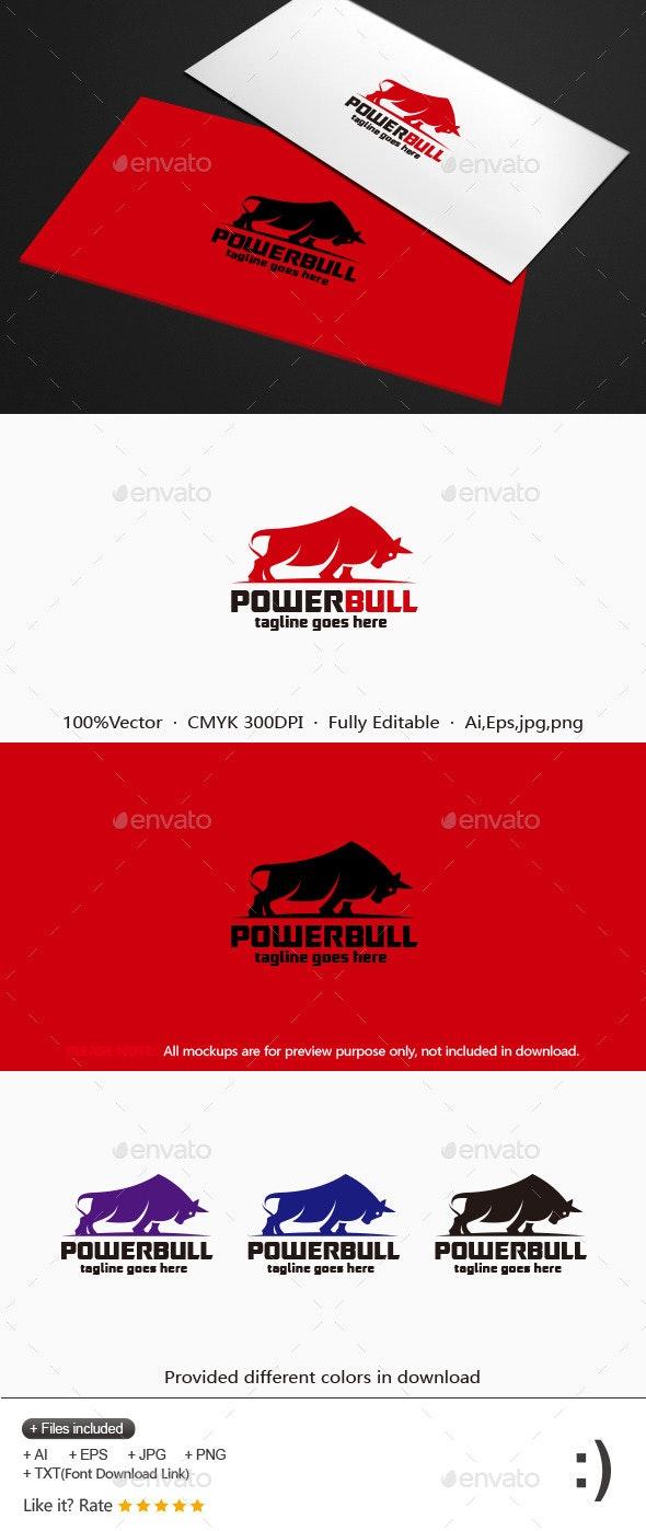 Power Bull Logo - Animals Logo Templates