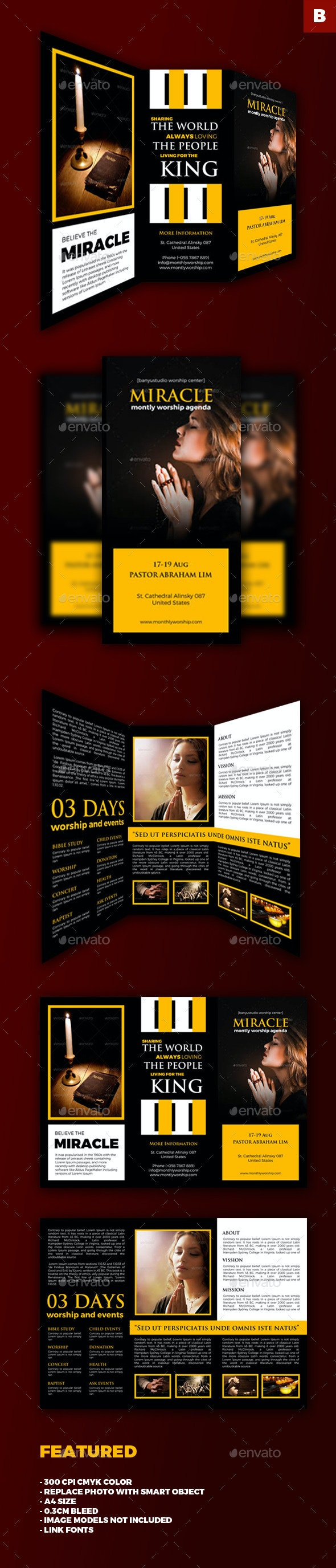Church Trifold Brochures - Informational Brochures