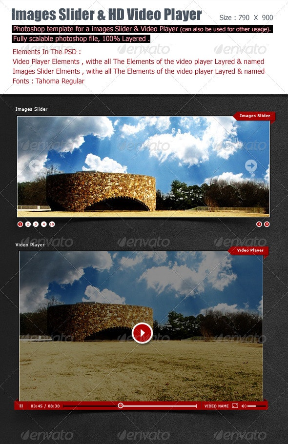 Images Slideshow And Video Player - Miscellaneous Web Elements
