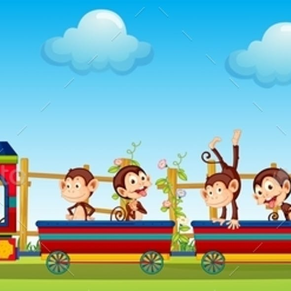 Monkey and Train