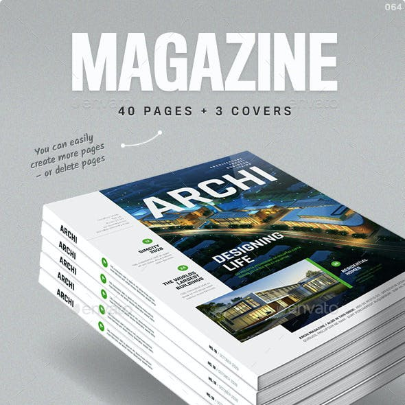 Magazine Template A4 and Letter - Living