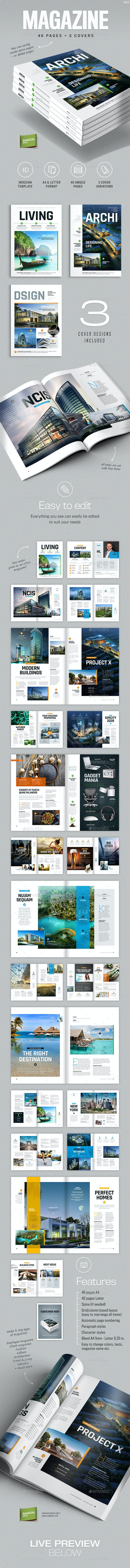Magazine Template A4 and Letter - Living - Magazines Print Templates