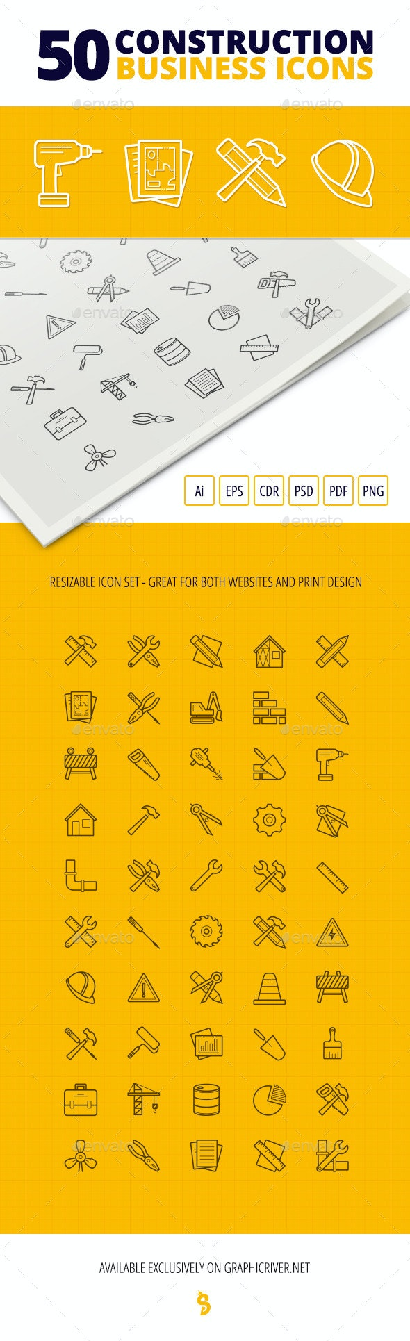 50 Construction Business Icons - Business Icons