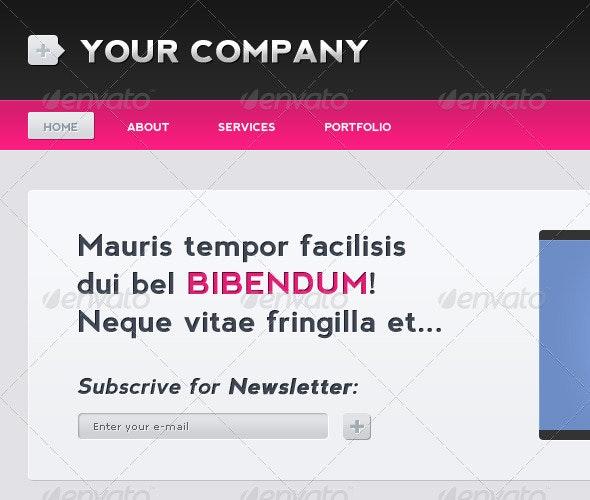 Website Header - Miscellaneous Web Elements