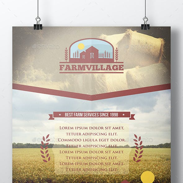 Agriculture Corporate Flyer Template