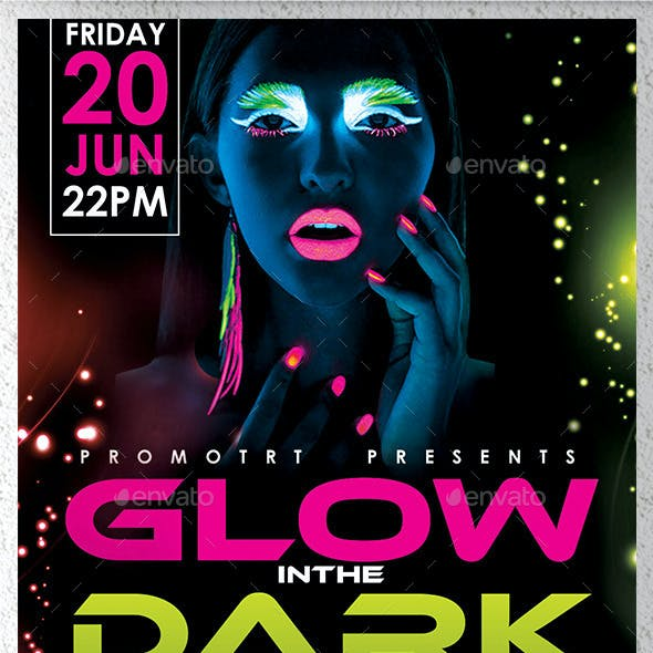 Glow in the Dark Flyer Template