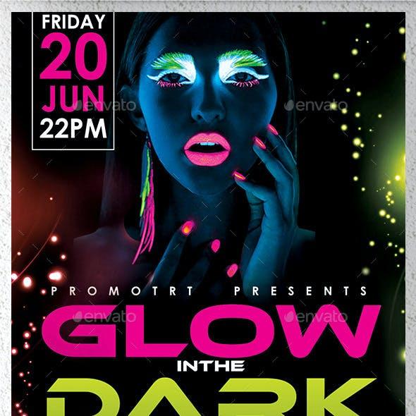 Glow in the Dark Flyer Template