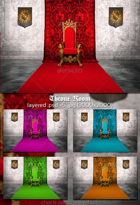 Throne Room Background - 3D Backgrounds