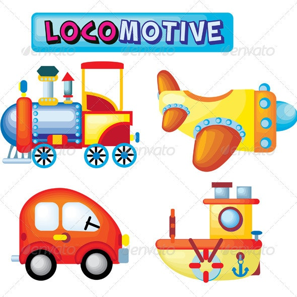 Locomotive Kids Collection - Man-made Objects Objects
