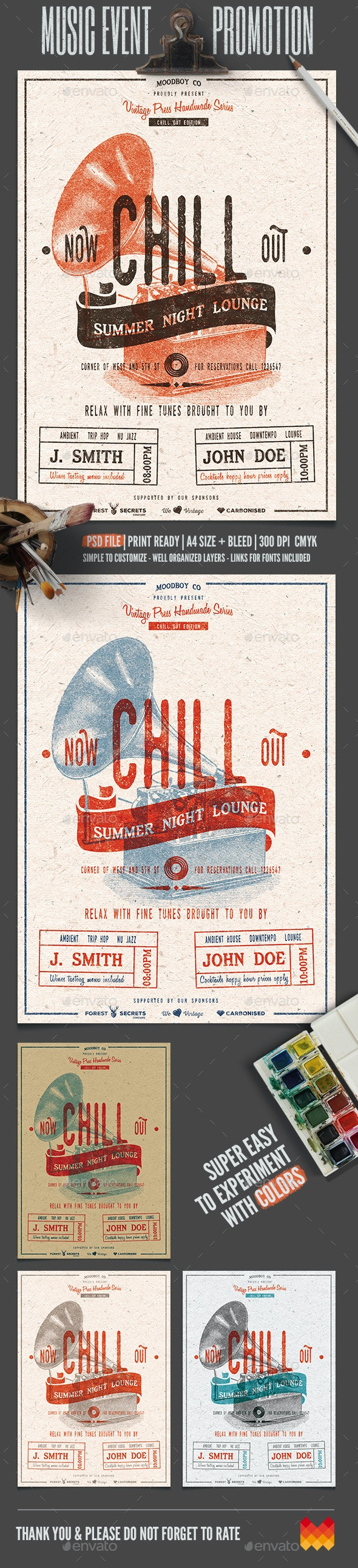 Chill Out - Lounge Flyer/Poster - Flyers Print Templates