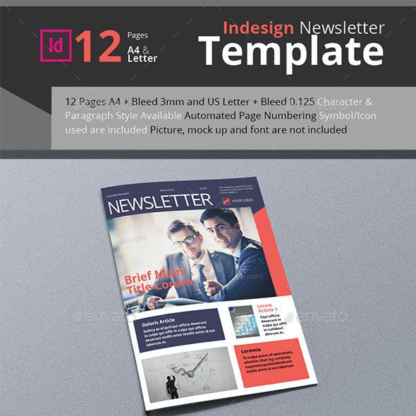 Business Newsletter A4 & Letter Size