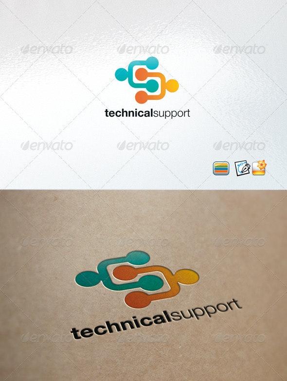 TechSupport - Humans Logo Templates