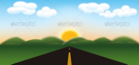 Road to Mountains - Landscapes Nature