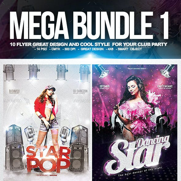 Mega Bundle Flyer Club Party