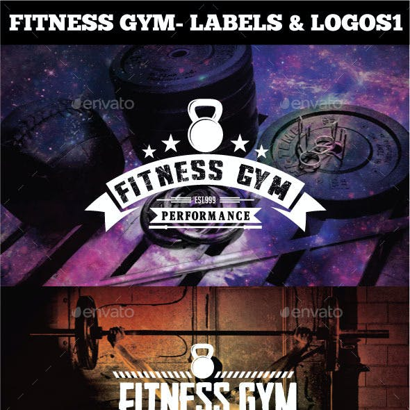 Fitness Gym - Labels & Logos
