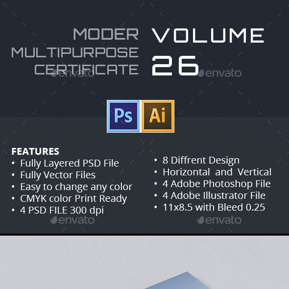 Modern Multipurpose Certificate GD026