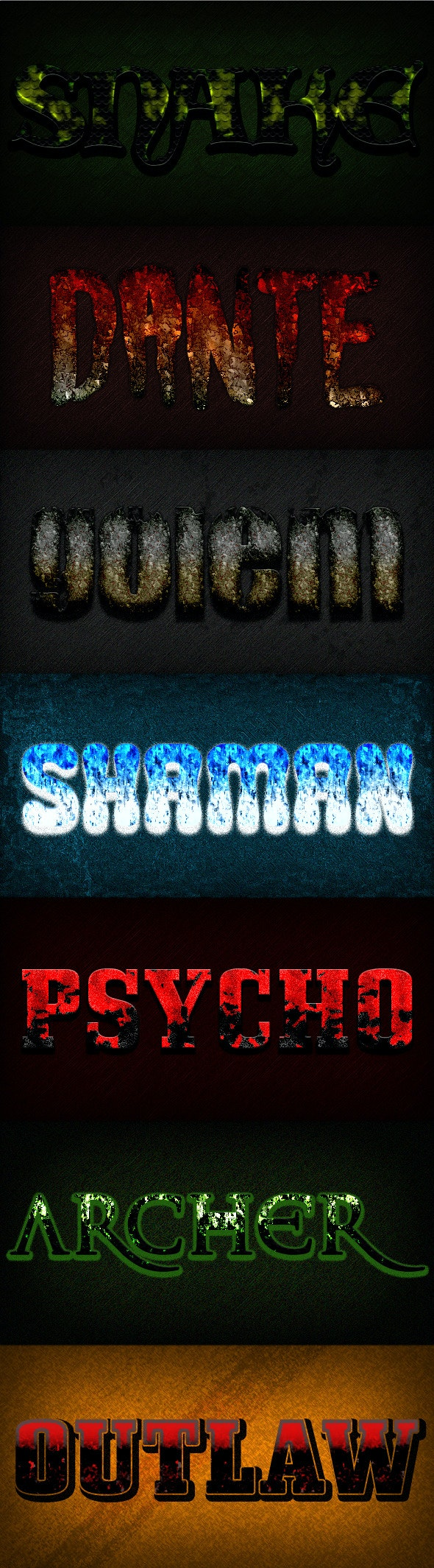 Photoshop Text Styles / Epic Gamer Vol.3 - Text Effects Styles