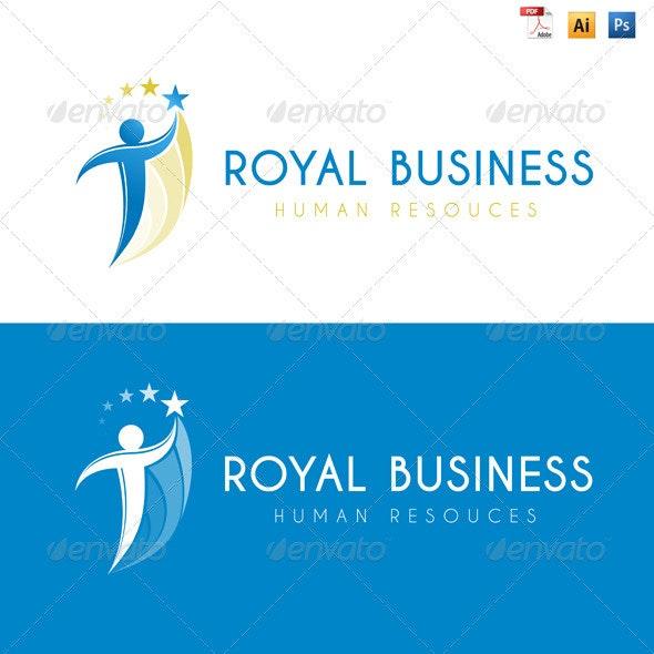 Royal Business - Human Resources Logo - Humans Logo Templates