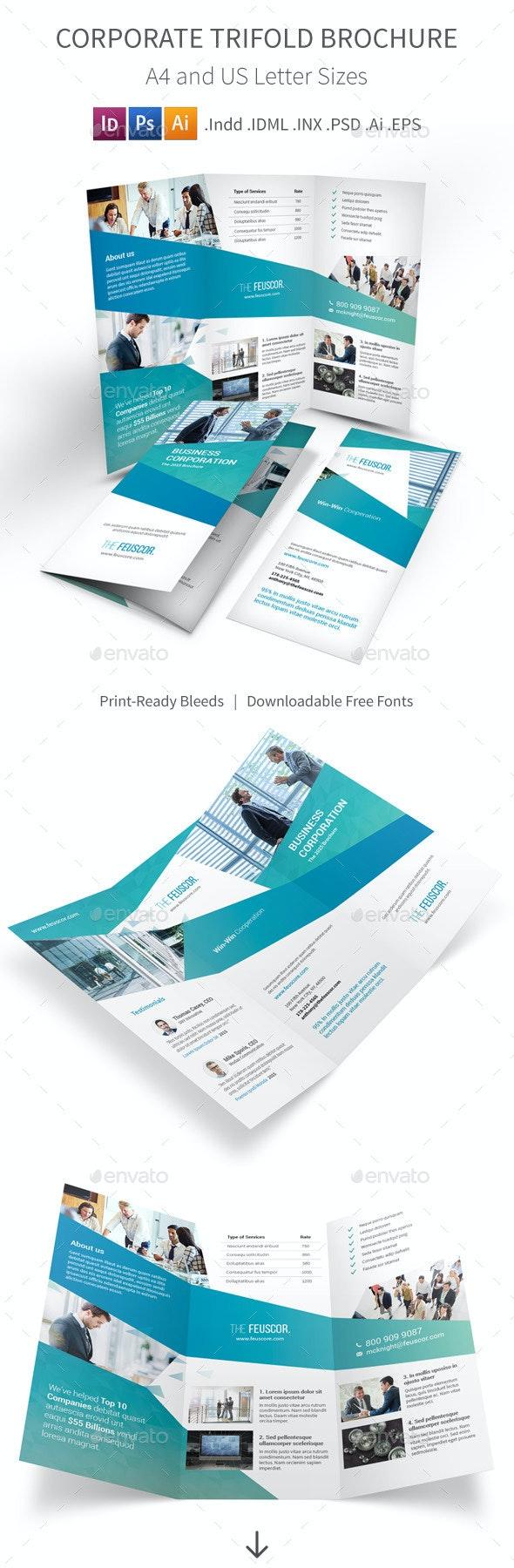 Corporate Company Trifold Brochure - Corporate Brochures