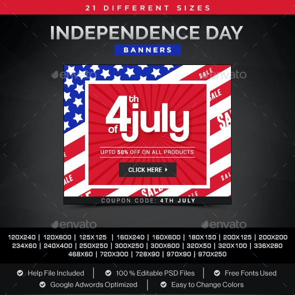 Independence Day Sale Banners
