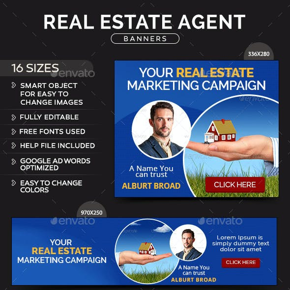 Real Estate Agent Banners