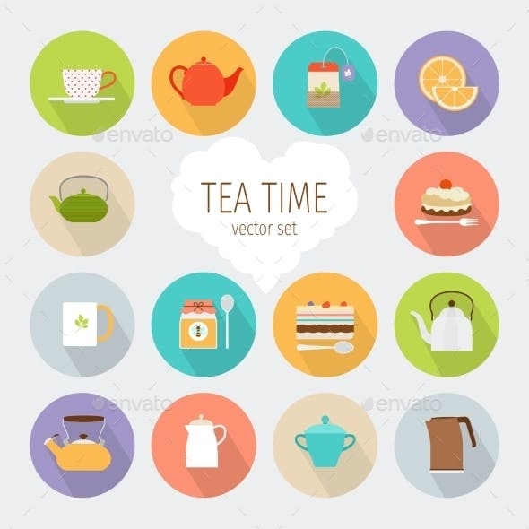 Tea Flat Icons