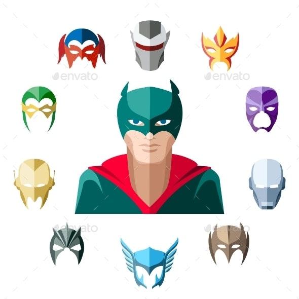 Superhero Character, Flat Design - Miscellaneous Vectors