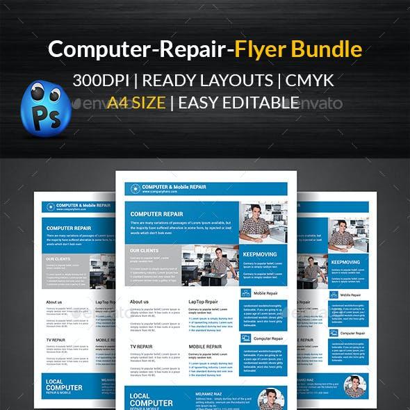 Computer & Mobile Repair Flyer Bundle