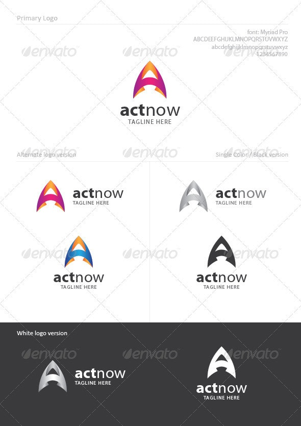 ActNow - Letters Logo Templates