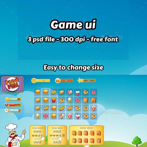 Food Game Ui set