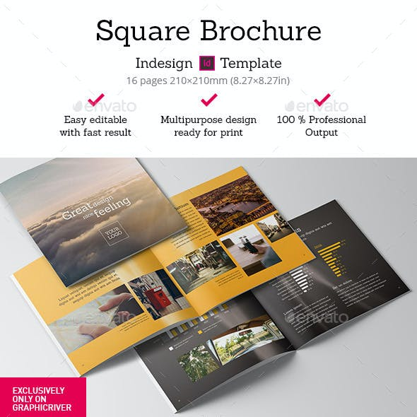 Square Brochure Indesign Template