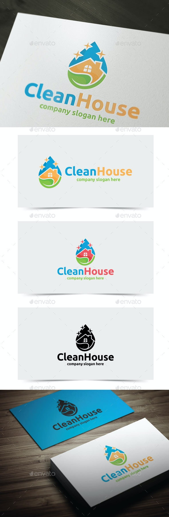 Clean House - Objects Logo Templates