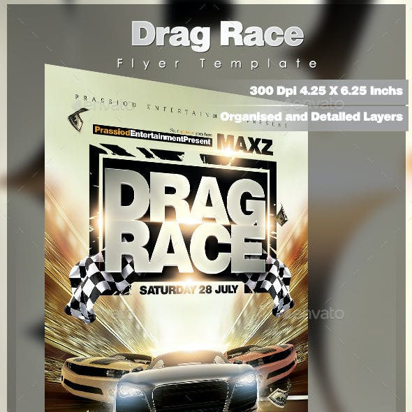 Drag Race Flyer Template