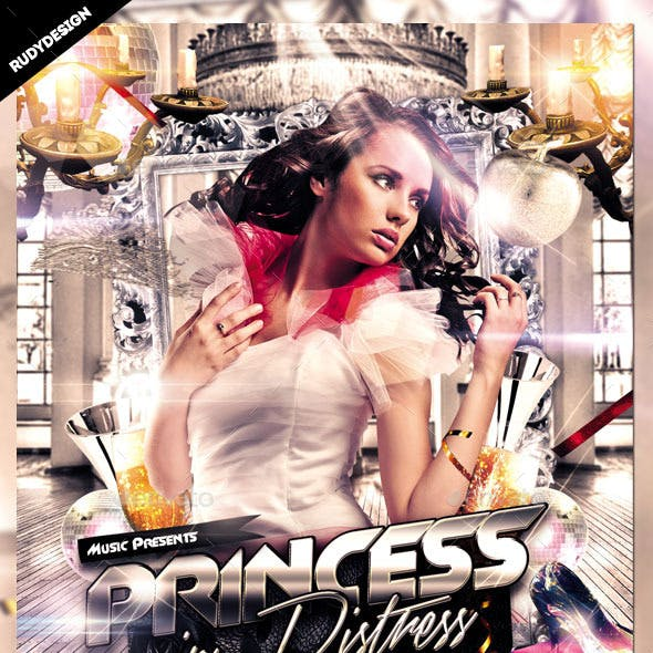 Princess in Distress Party Flyer