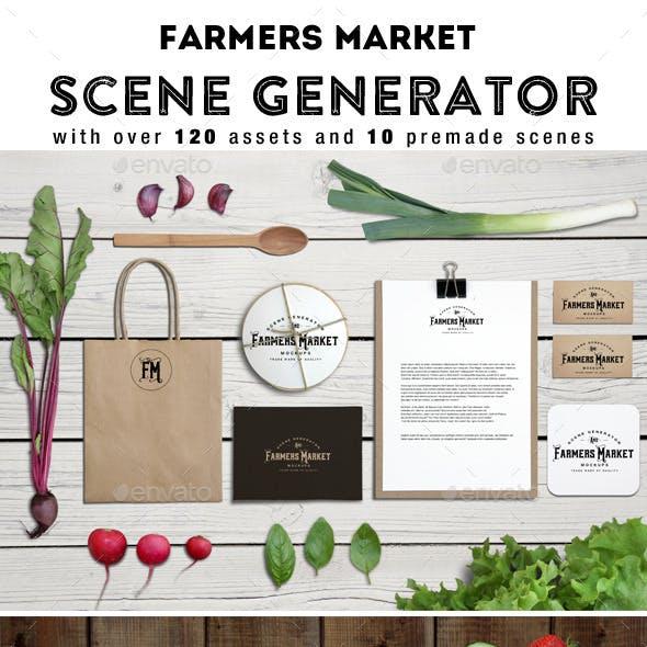 Farmers Market Scene Generator