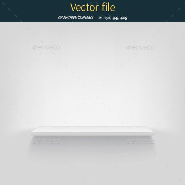 Shelf on White Background Vector Object