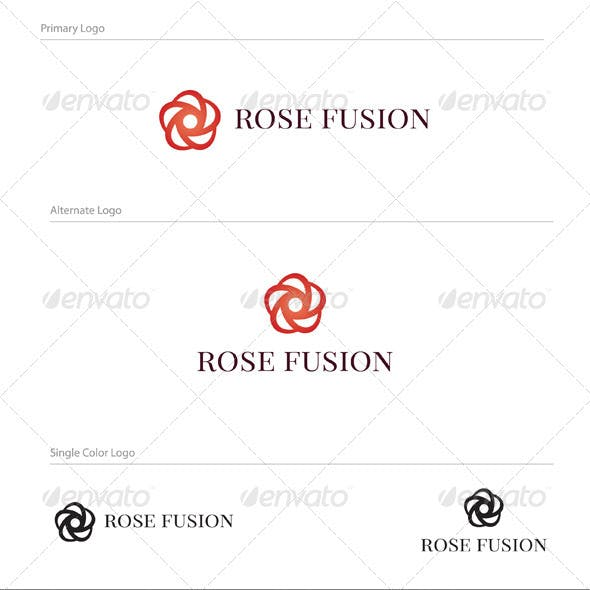 Rose Fusion Logo Design - NAT-004