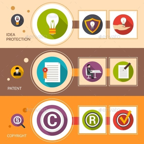 Patent Idea Protection Banner Set