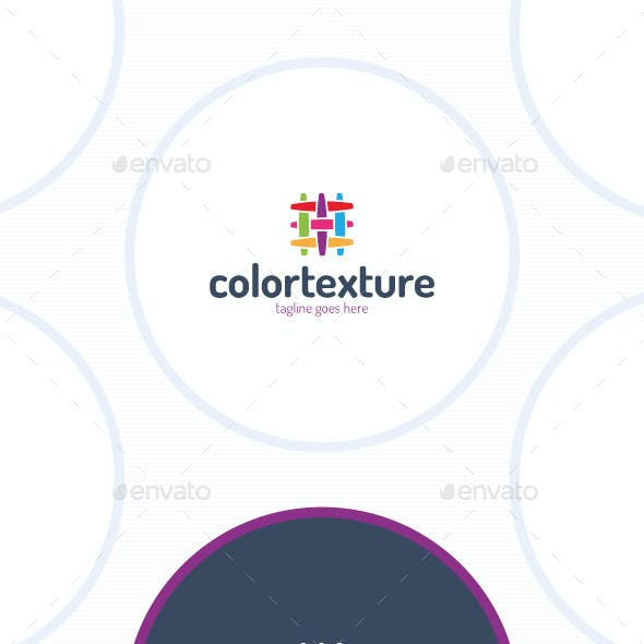 Colorful Texture Logo - Fabric Canvas Linien