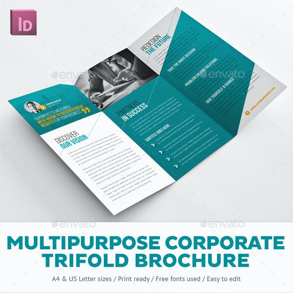 Multipurpose Corporate Trifold Brochure